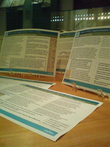 The 'Dream Voices' teaching resource in the Exhibition Centre