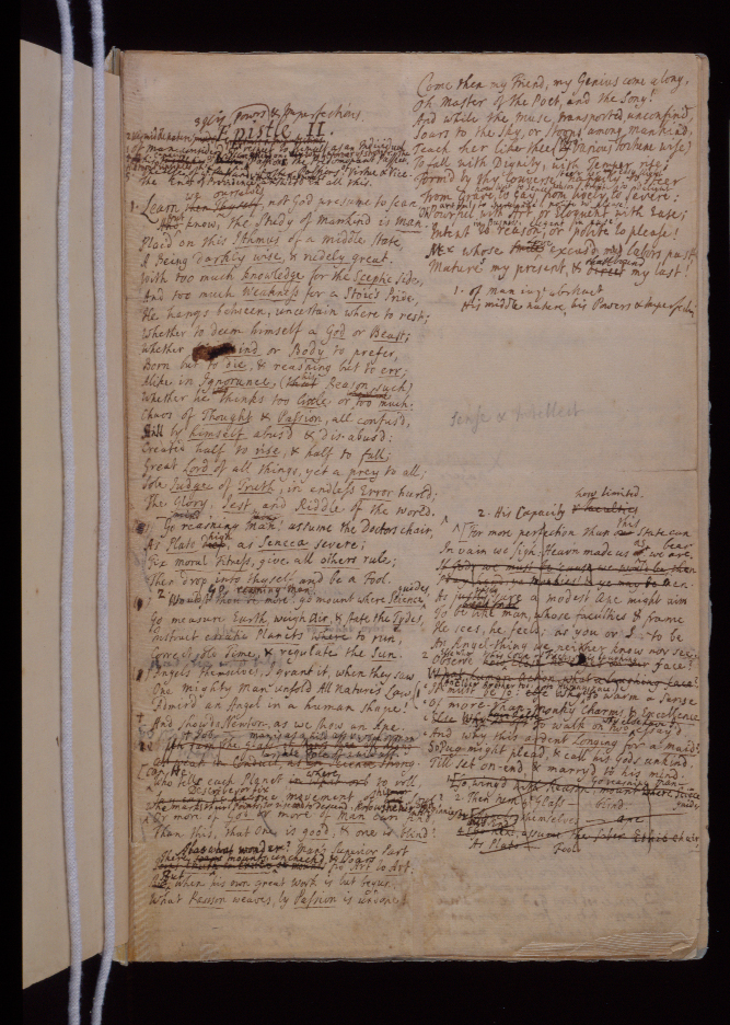 Pope's Essay on Man, manuscript
